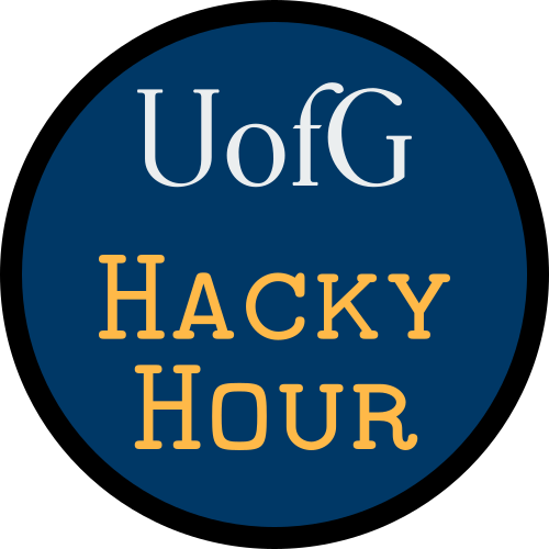 University of Glasgow Hacky Hour logo
